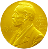 gold nobel medal